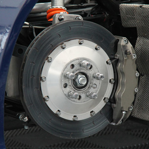 The Front Wheel Brake of a Fast Saloon Car.
